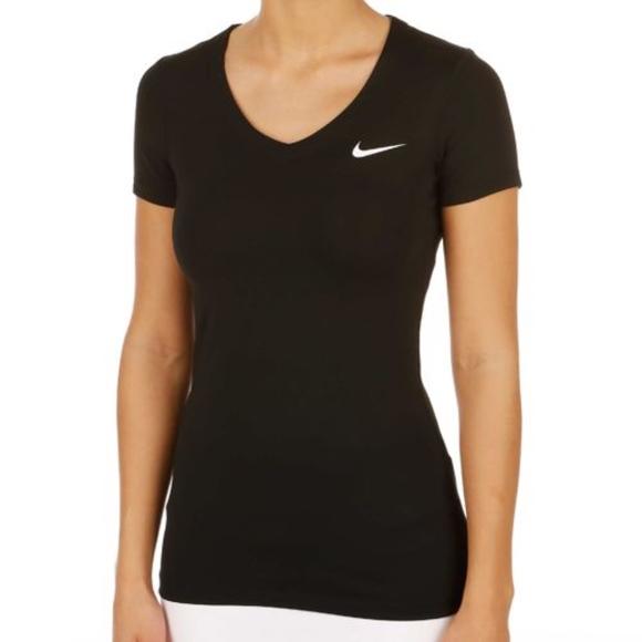 984ad8f39e4 Nike Tops   Pro Short Sleeve V Neck Training Top   Poshmark